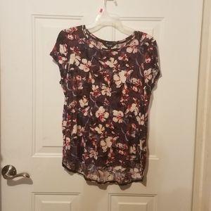 Simply Vera large purple floral blouse